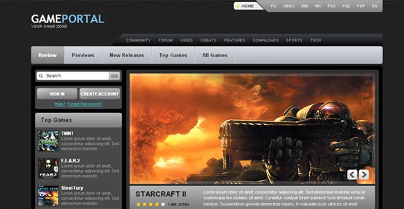 30 Fresh Css Xhtml Web Templates Free Download