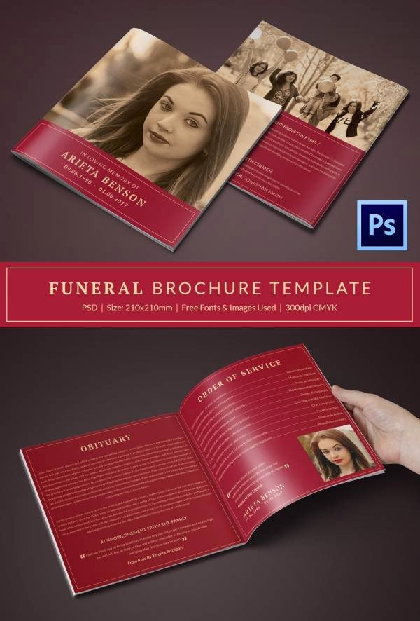 30 Funeral Program Brochure Templates – Free Word Psd