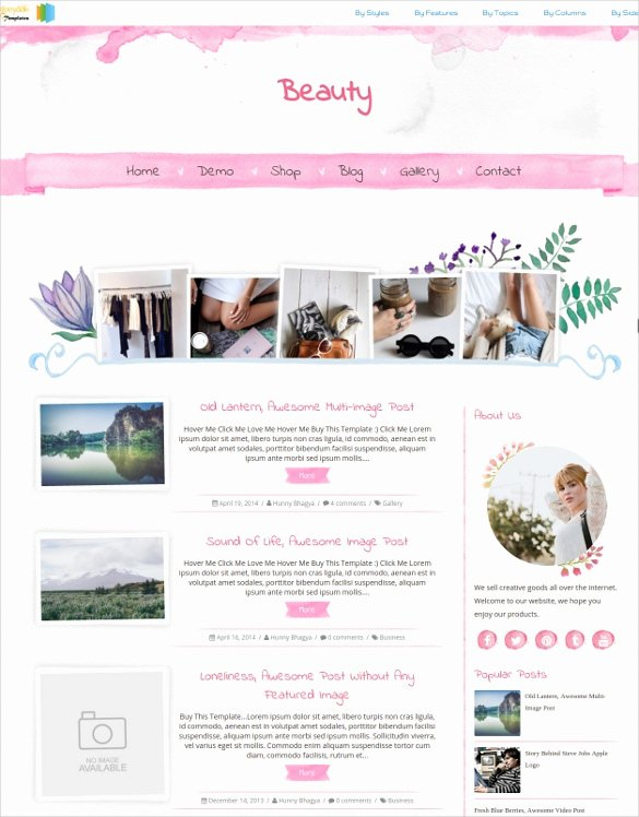 30 Graphy Blog themes & Templates