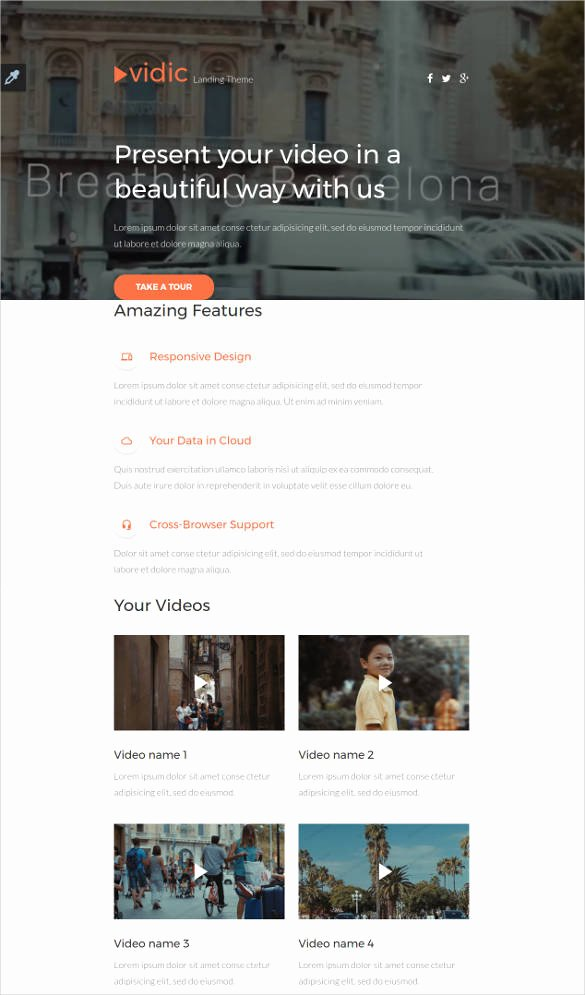 30 HTML5 Landing Page themes & Templates