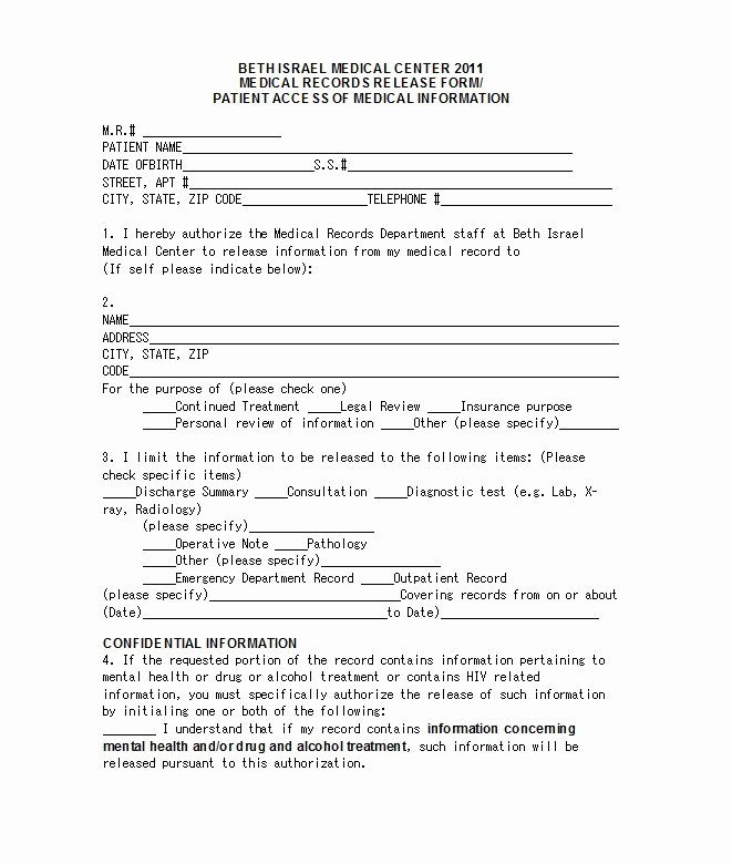 30 Medical Release form Templates Free Template Downloads