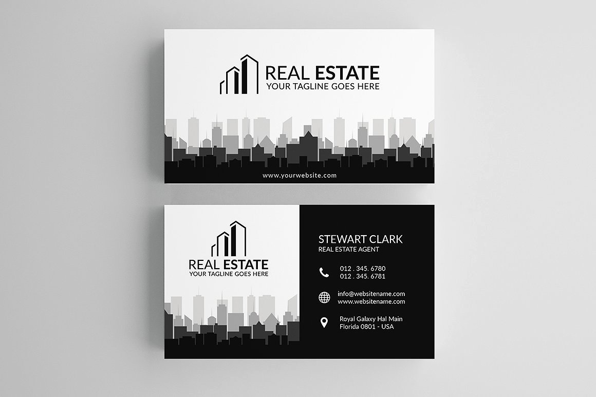 30 Modern Real Estate Business Cards Psd
