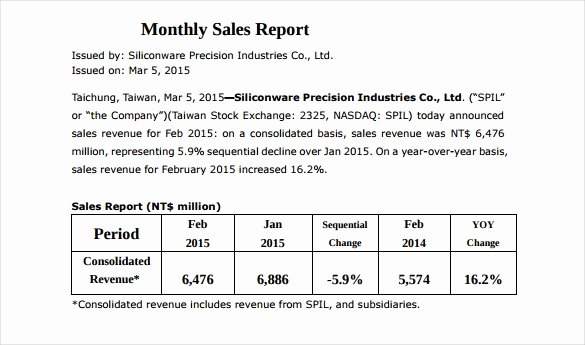 30 Monthly Sales Report Templates Pdf Doc