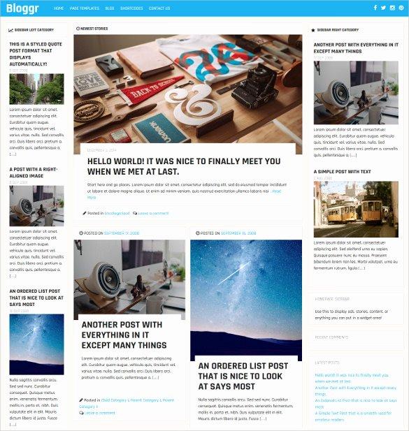 30 News Blog themes & Templates