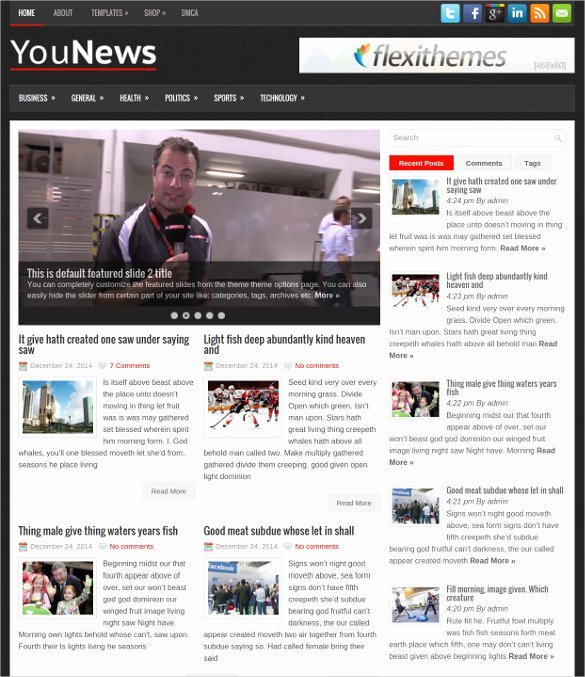 30 News Blog themes & Templates