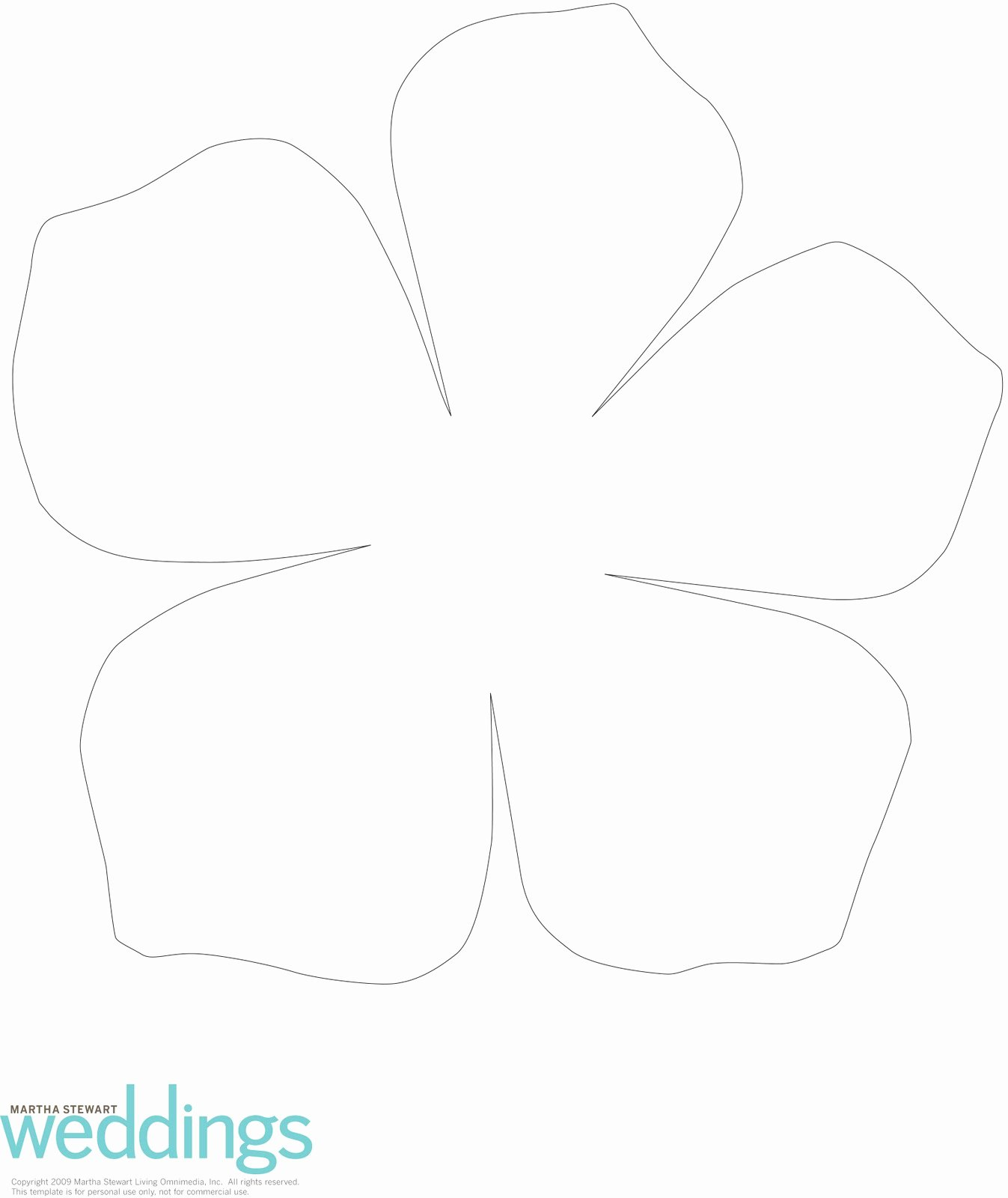 30 Of Paper Flower Petal Template