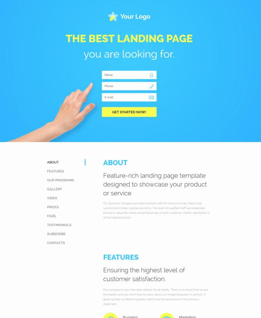 30 Of the Best Responsive Landing Page Templates for 2016