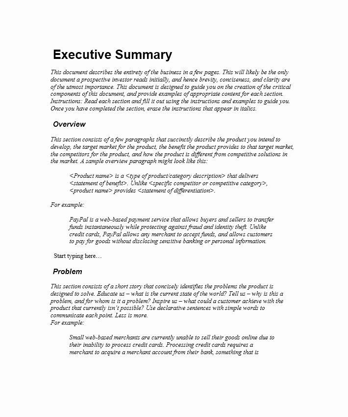 30 Perfect Executive Summary Examples & Templates