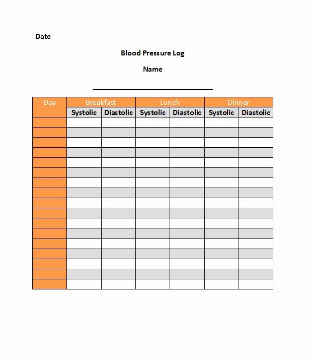 30 Printable Blood Pressure Log Templates Template Lab