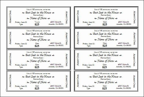 30 Printable Ticket Templates to Download