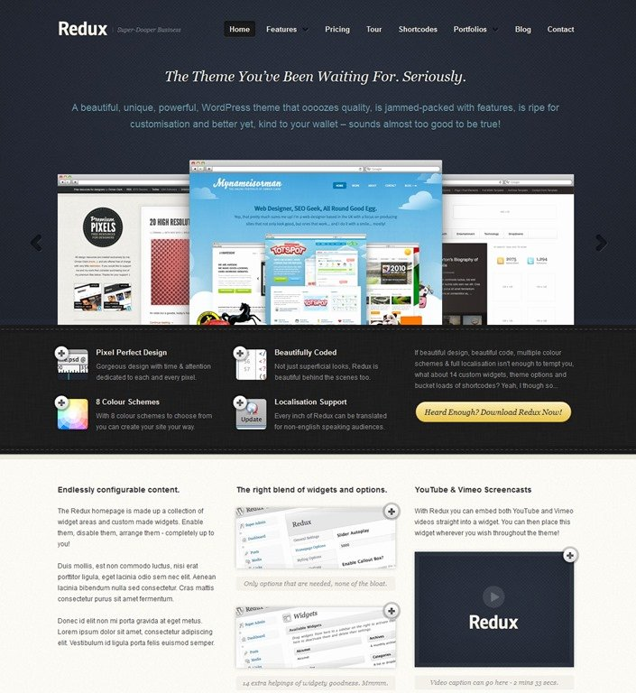 30 Professional Wordpress App themes and HTML Templates