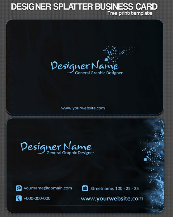 30 Psd Business Card Templates Web3mantra