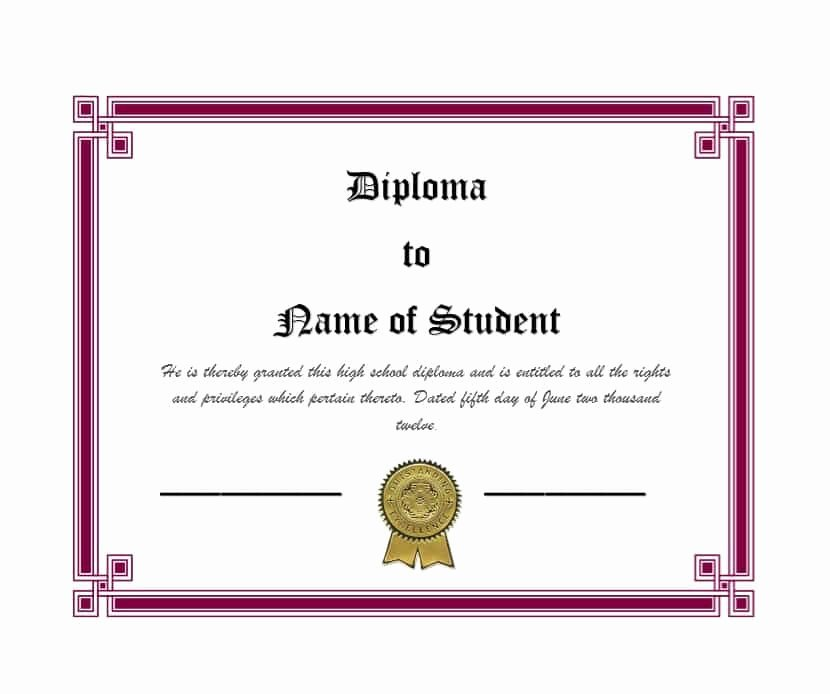 30 Real & Fake Diploma Templates High School College