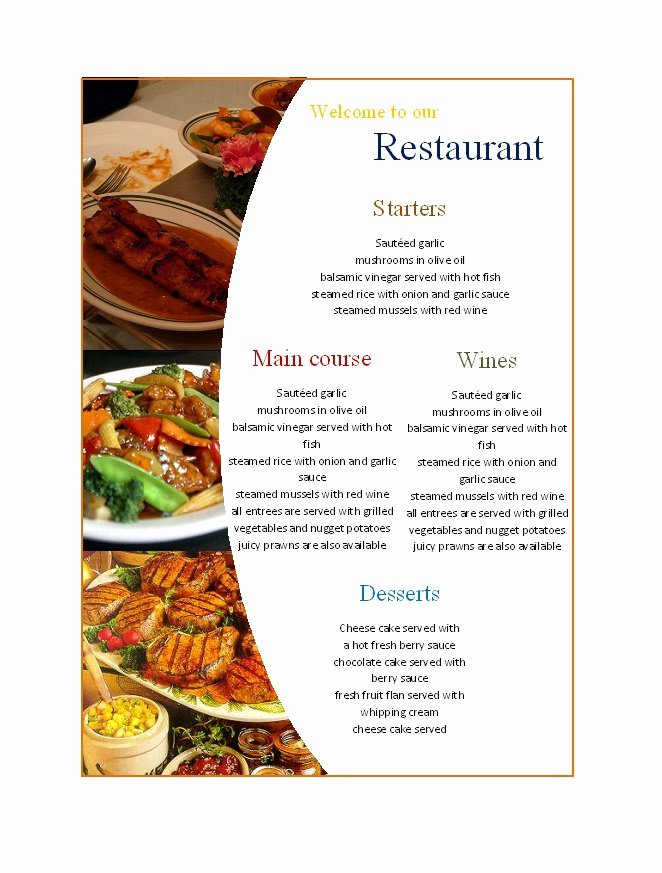 30 Restaurant Menu Templates & Designs Template Lab