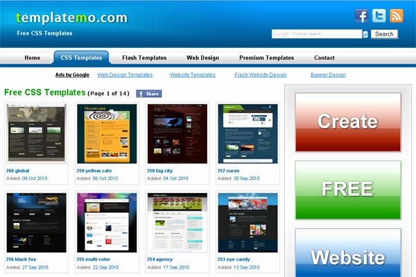 30 Sites that Fer Free Website Templates and Free Flash