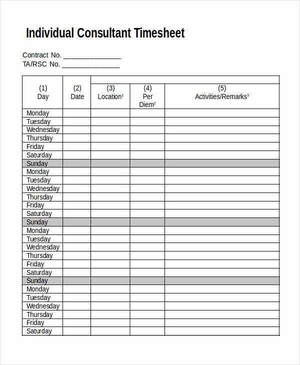 30 Timesheet Invoice Template Free 8 Timesheet Invoice