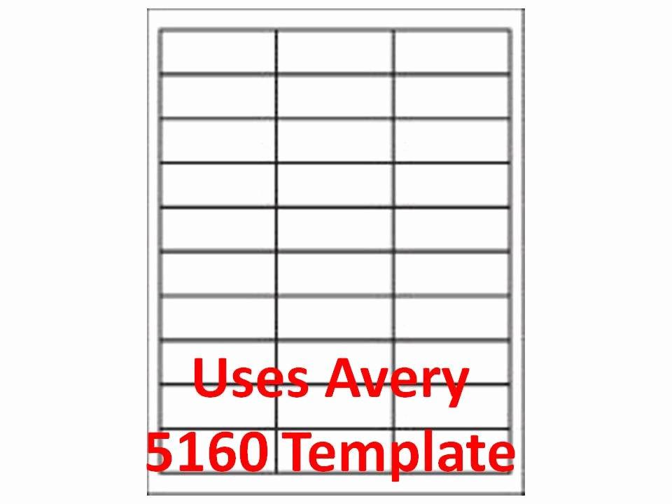 """30 Up Template Laser Inkjet Labels 3 000 1"""" X 2 5 8"""