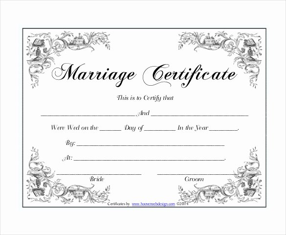 30 Wedding Certificate Templates – Free Sample Example