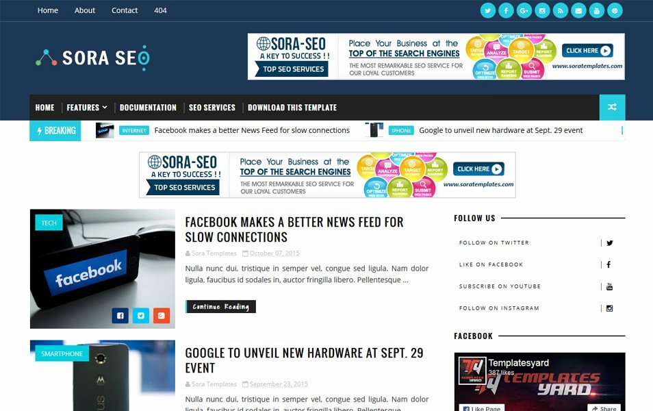 300 Best Free Responsive Blogger Templates 2019 Css Author