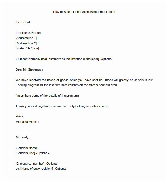 31 Acknowledgement Letter Templates – Free Samples