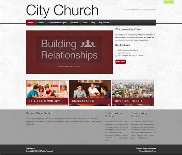 31 Church Website themes & Templates