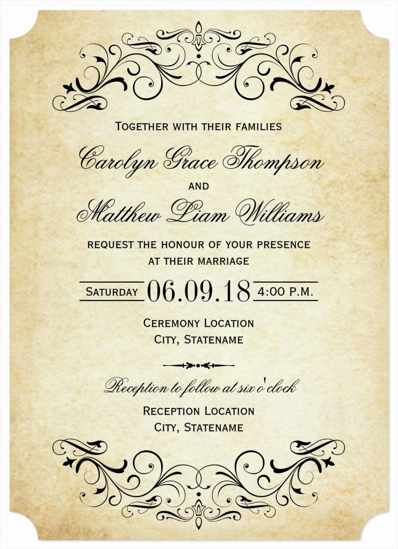 31 Elegant Wedding Invitation Templates – Free Sample