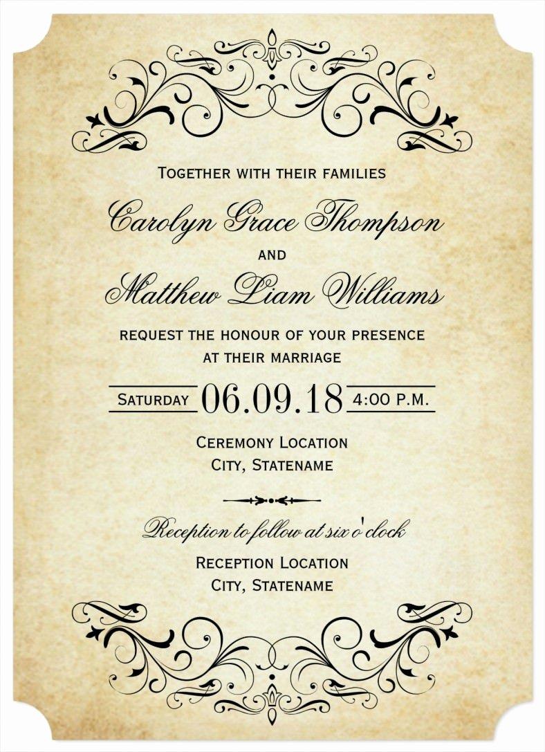 31 Elegant Wedding Invitation Templates – Free Sample