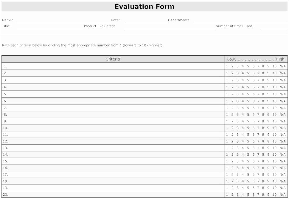 31 Employee Evaluation form Templates Free Word Excel