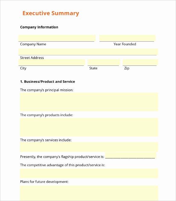 31 Executive Summary Templates Free Sample Example