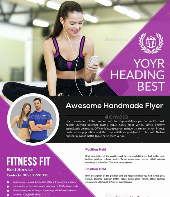 31 Fitness Flyer Templates In Word Psd Ai