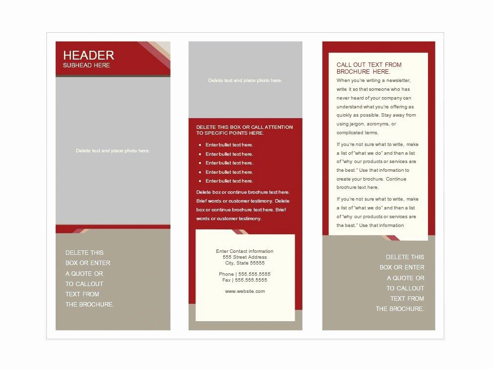 31 Free Brochure Templates Word Pdf Template Lab