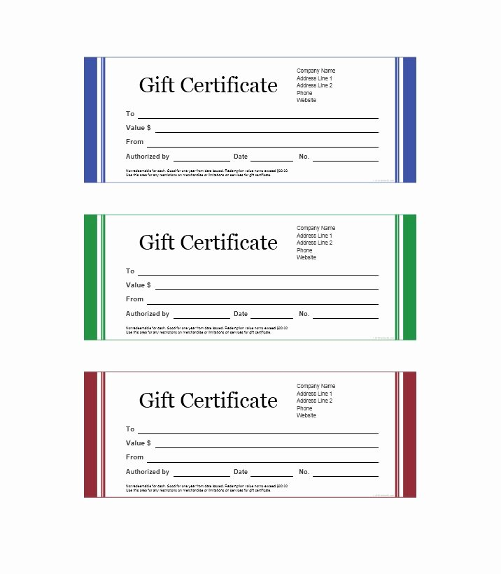 31 Free Gift Certificate Templates Template Lab