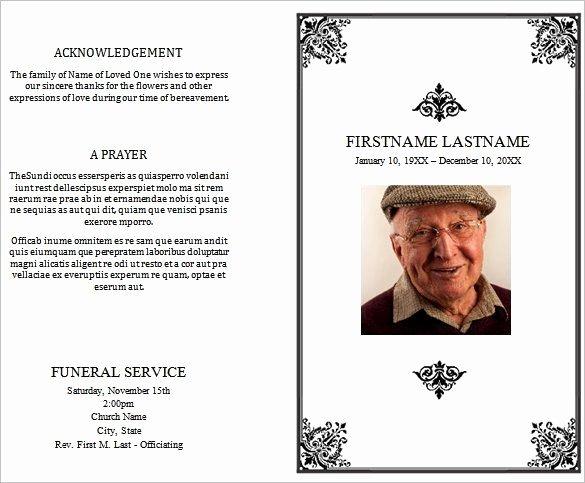 31 Funeral Program Templates Free Word Pdf Psd