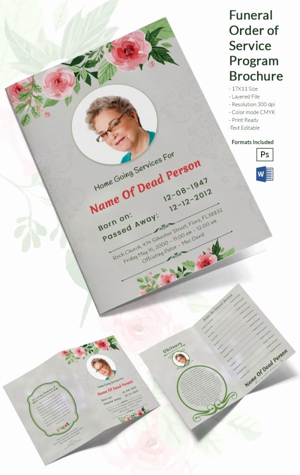 31 Funeral Program Templates – Free Word Pdf Psd