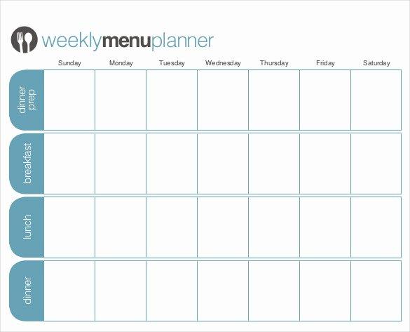 31 Menu Planner Templates Free Sample Example format