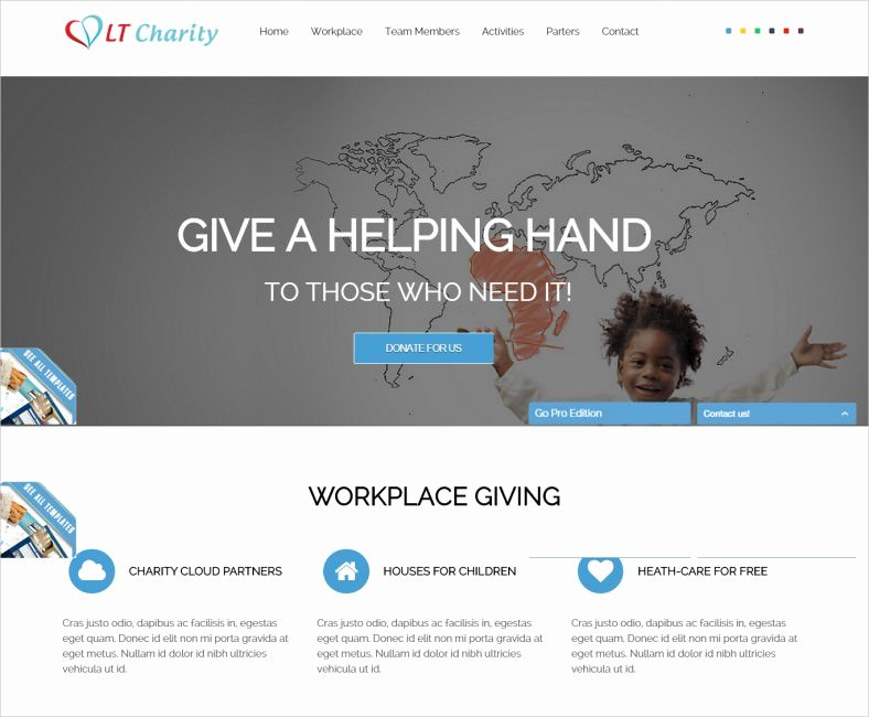 31 Non Profit Website themes & Templates