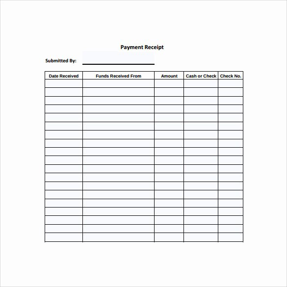 31 Payment Receipt Samples – Pdf Word Excel Pages