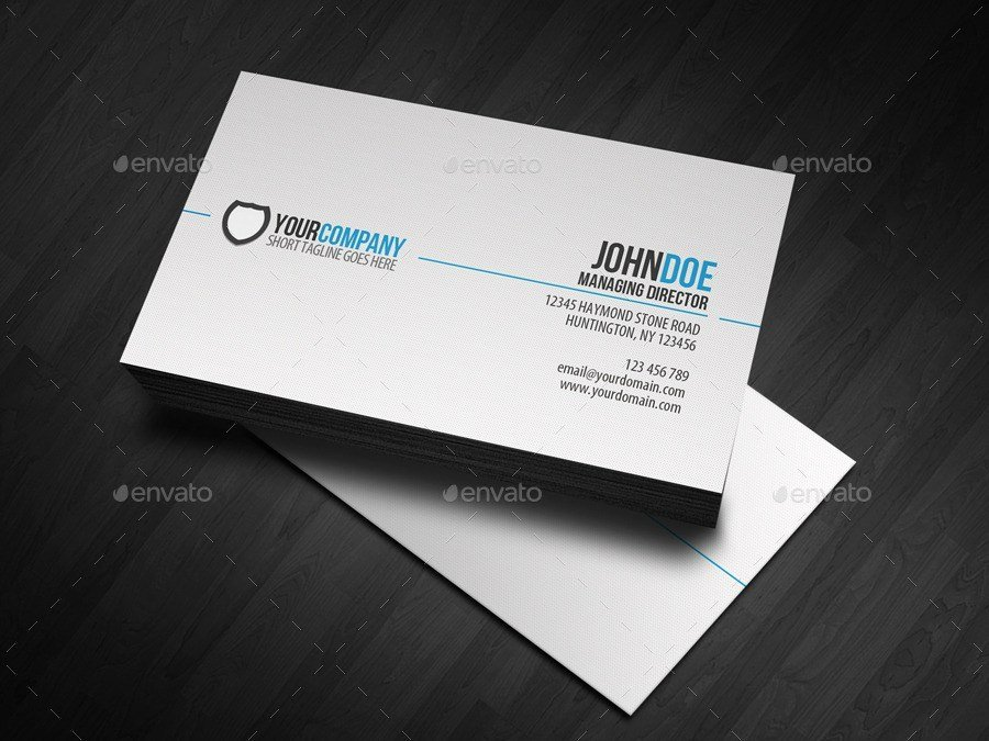 31 Professional & Simple Business Cards Templates for 2018