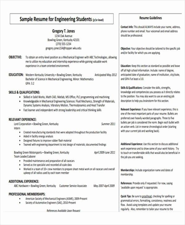 31 Professional Engineering Resume Templates Pdf Doc
