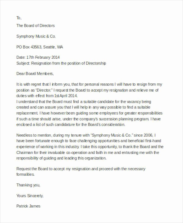 31 Resignation Letter Examples