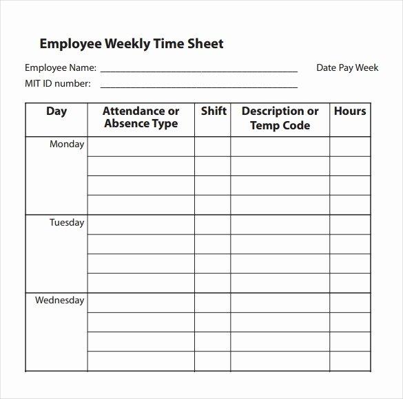 31 Simple Timesheet Templates Doc Pdf