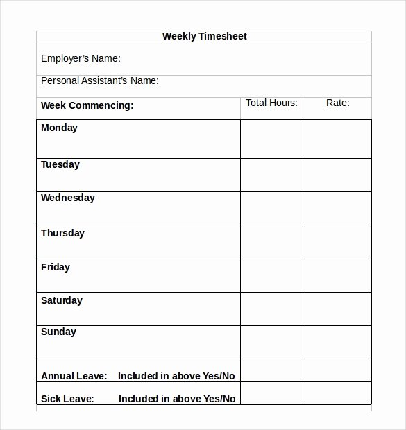31 Simple Timesheet Templates Doc Pdf