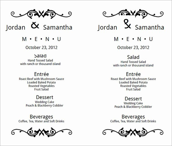 31 Wedding Menu Templates