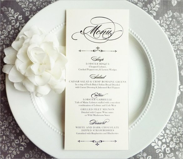 31 Wedding Menu Templates