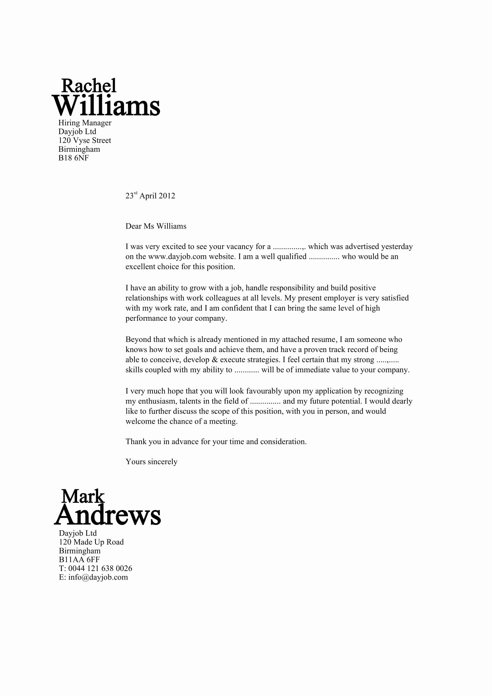 Good Cover Letter For Job Resume Latter Example Template