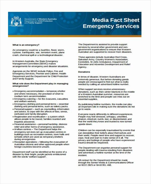 32 Fact Sheet Templates In Pdf