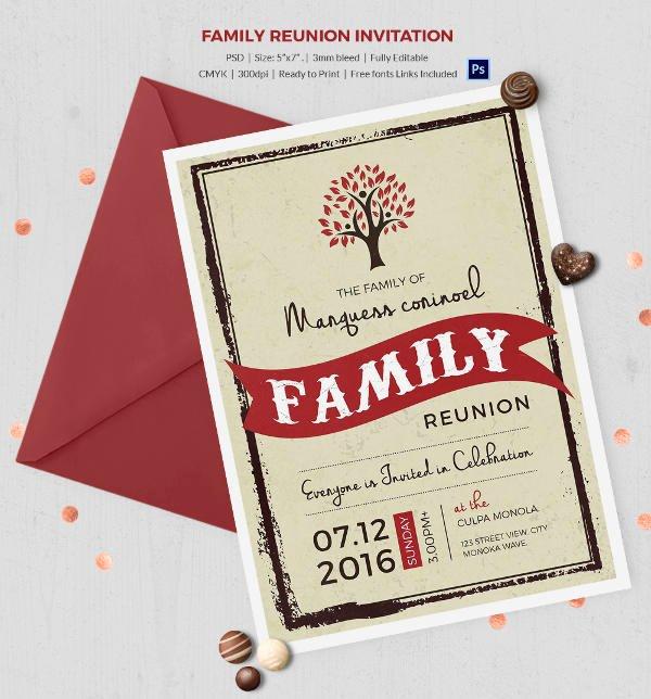32 Family Reunion Invitation Templates Free Psd Vector