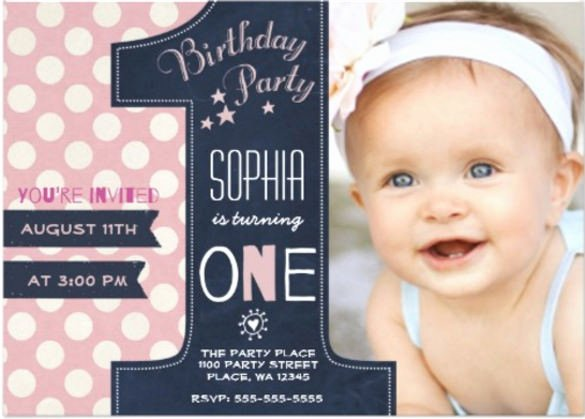 32 First Birthday Invitations Psd Vector Eps Ai