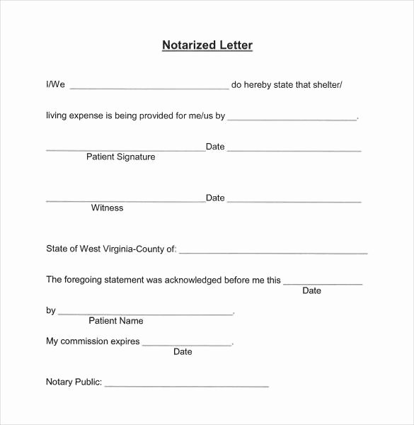 32 Notarized Letter Templates Pdf Doc