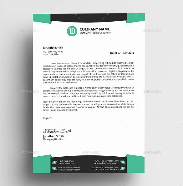 32 Professional Letterhead Templates Free Sample